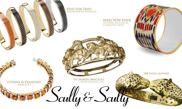 bracelets halcyon days bangles fine jewelry scully and scully