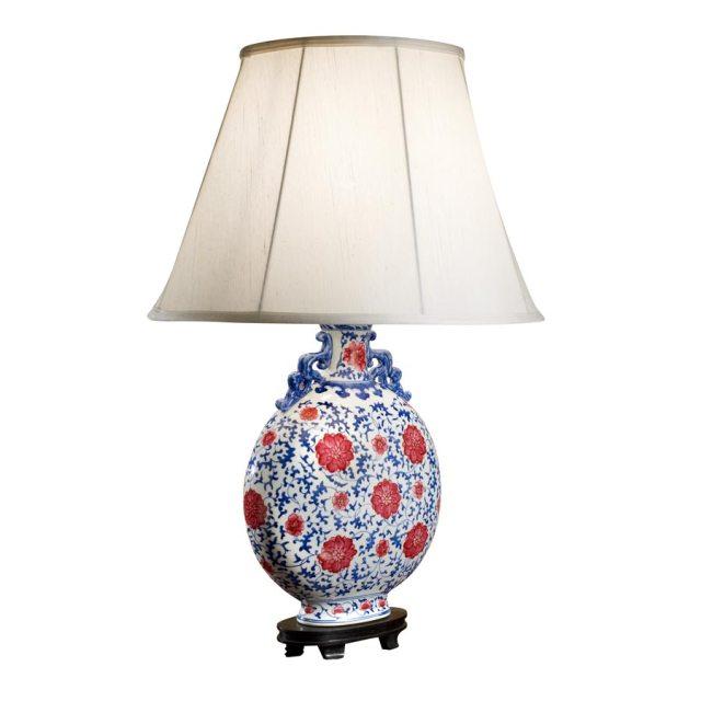 flat rasberry red lamp
