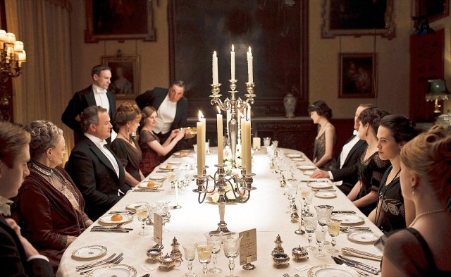 downton abbey table setting grasmere crystal