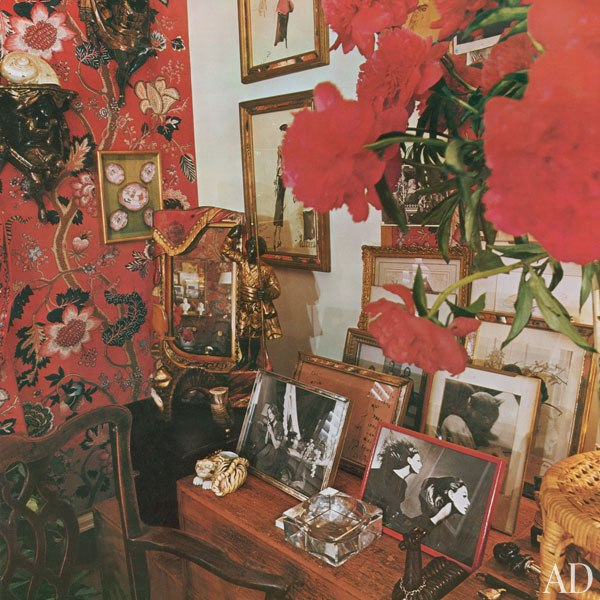 red living room diana vreeland