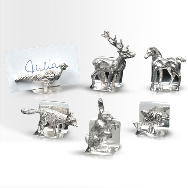 sterling silver placard holders