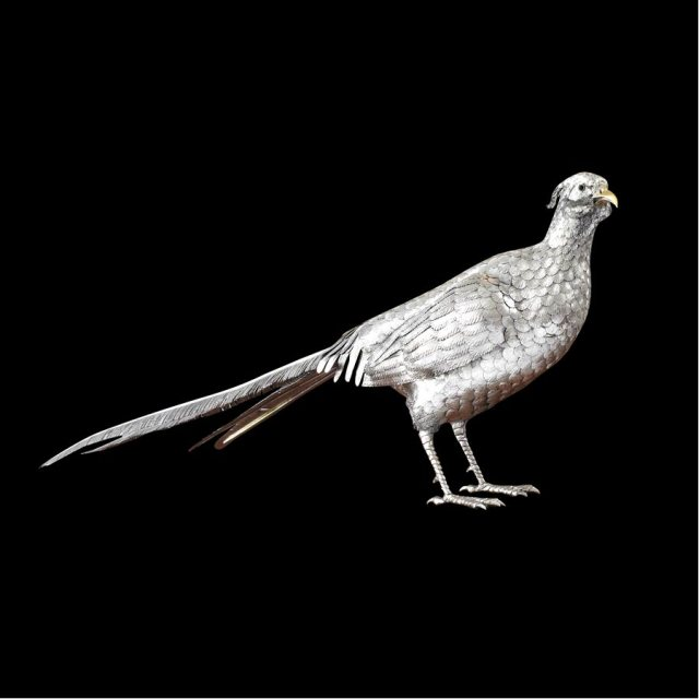 sterling male pheasant sculpture scully