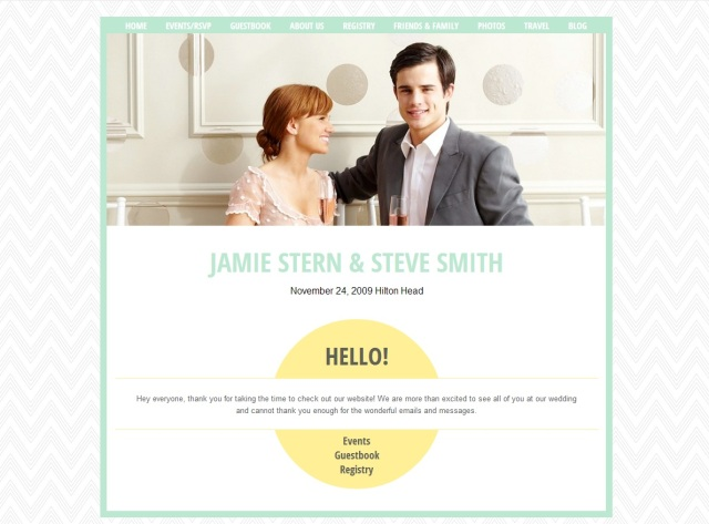 create wedding website
