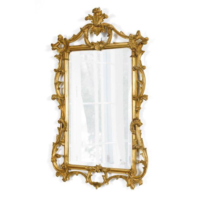decorative mirror regency gold leaf antique
