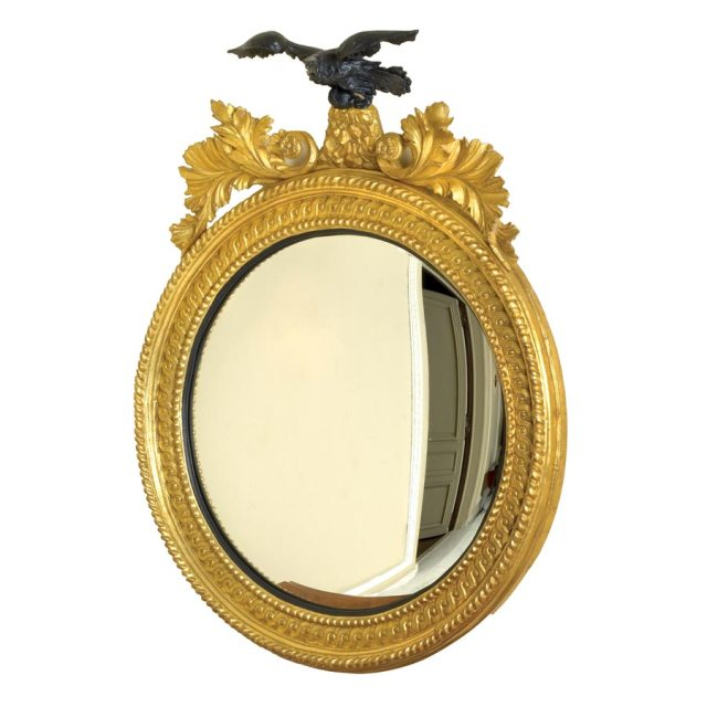 decorative mirror rondel eagle