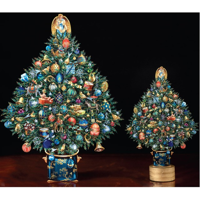 trompe l'oeil christmas trees scully and scully