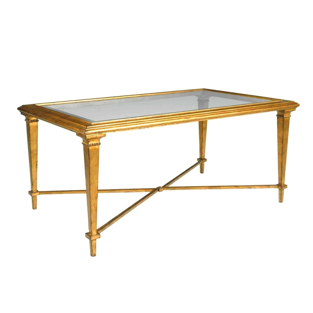 bristol rectangle coffee table gold scully and scully