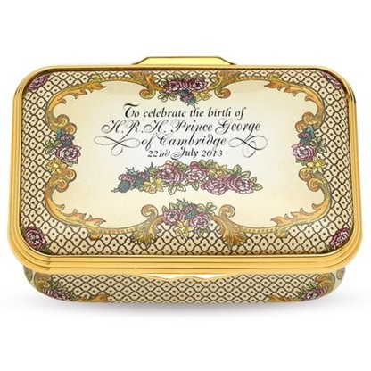 Halcyon Days The Royal Baby Limited Edition Enamel Box