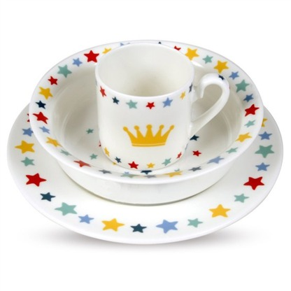 Halcyon Days Crown and Star Royal Baby Set