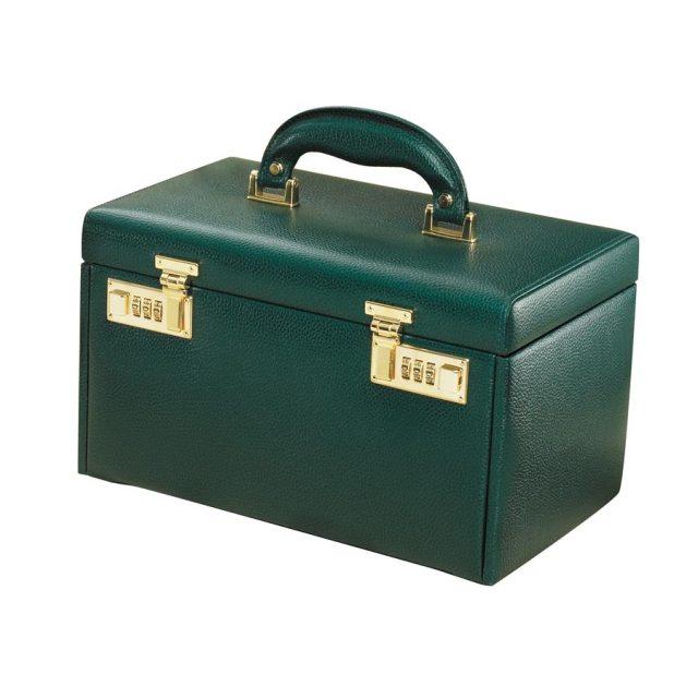 four drawer jewelry case green pantone emerald