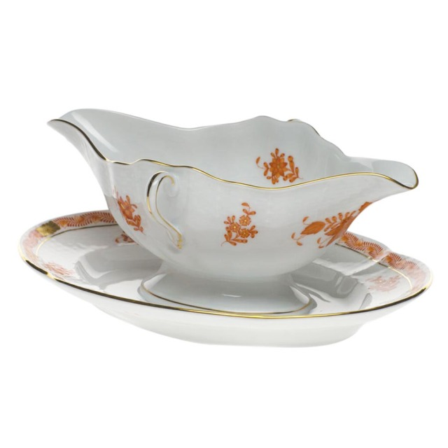 Herend Chinese Bouquet in Rust, Gravy Bowl
