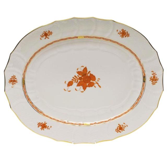 herend turkey platter chinese bouquet rust