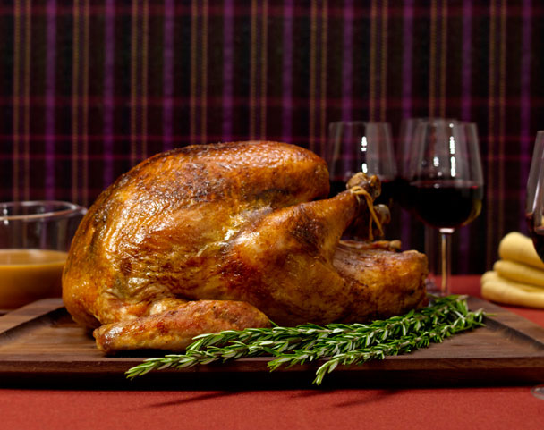 spiced butter roast turkey thanksgiving recipe