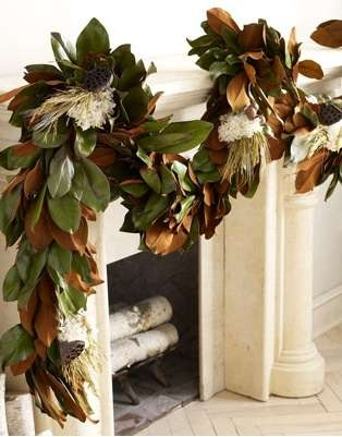 fireplace garland christmas decor
