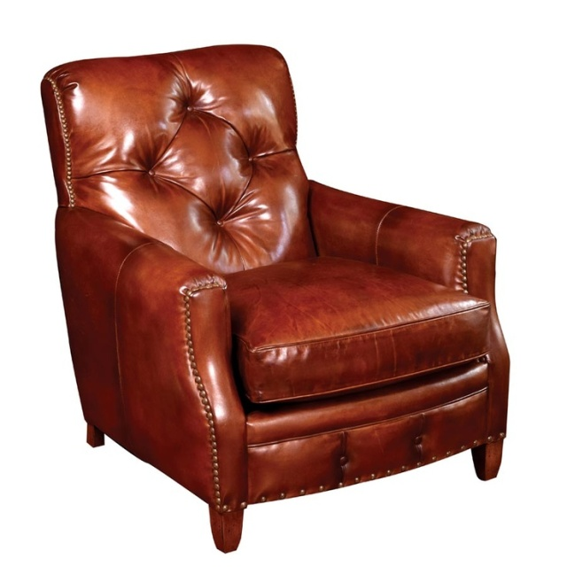 valencia tufted reading chair leather library scully