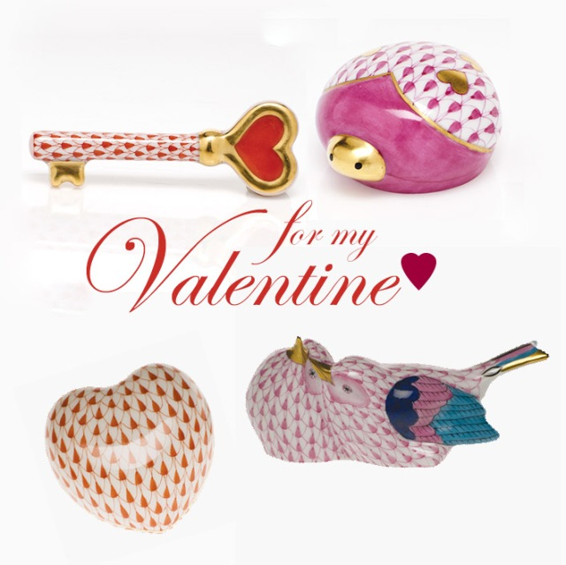 herend porcelain valentine's day gifts
