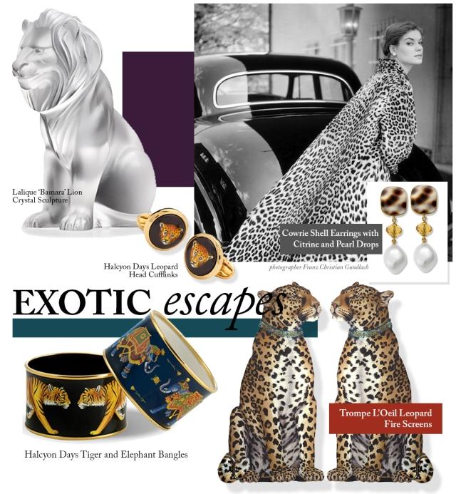 exotic safari decor jewelry scully and scully