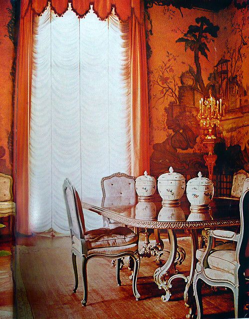 elegant dining room color
