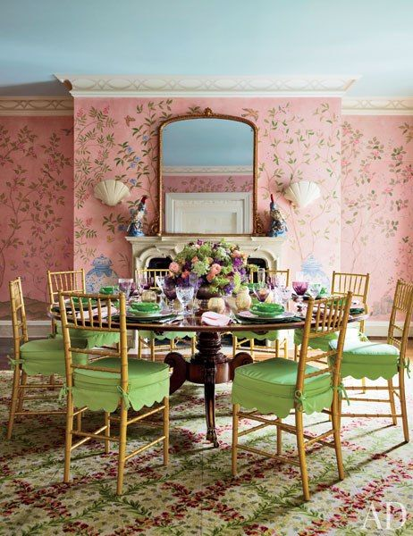 elegant color dining room