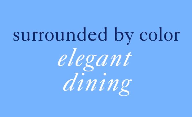 color elegant dining