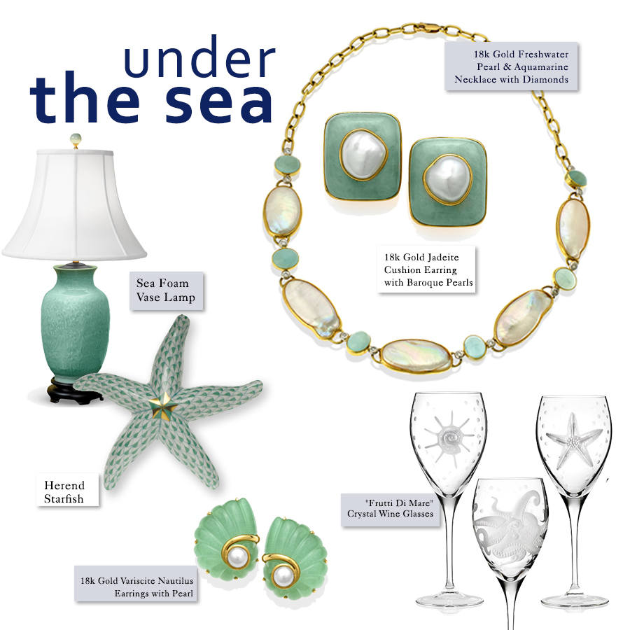 sea inspired home decor jewelry