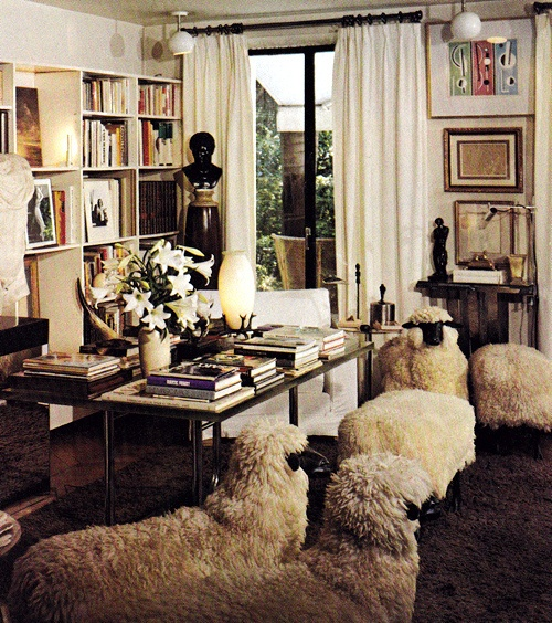 yves saint laurent sheep paris apartment