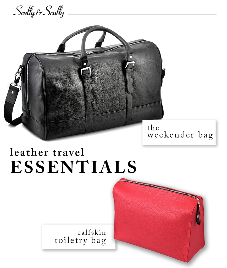 leather travel essentials
