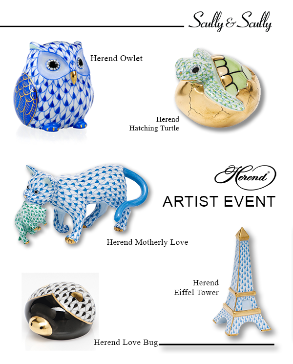 herend artist event fine porcelain scully & scully