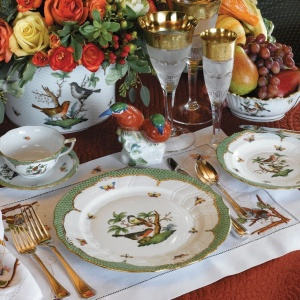 thanksgiving entertaining table herend