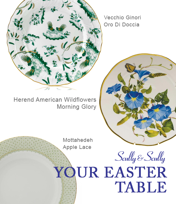 easter china porcelain table