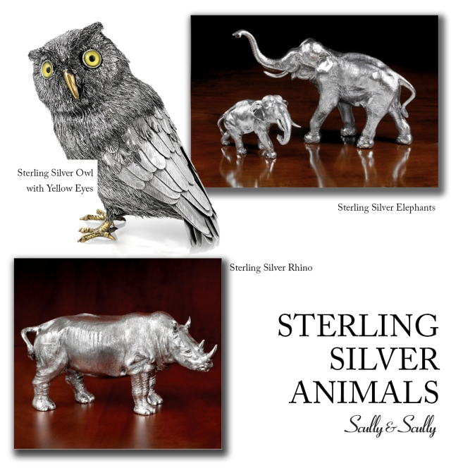 sterling silver animals scully and scully