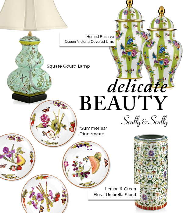 delicate beauty flower garden home accents scully & scully