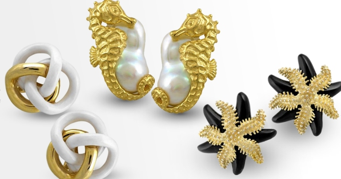 18k gold earrings fine jewelry summer scully & scully